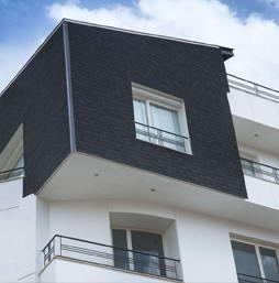 IKO laminált tetőzsindely függőleges falakhoz